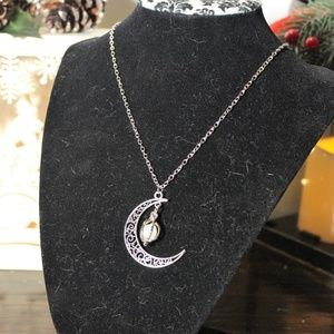 *New Listing* Moon Pendant with Glowing Ball